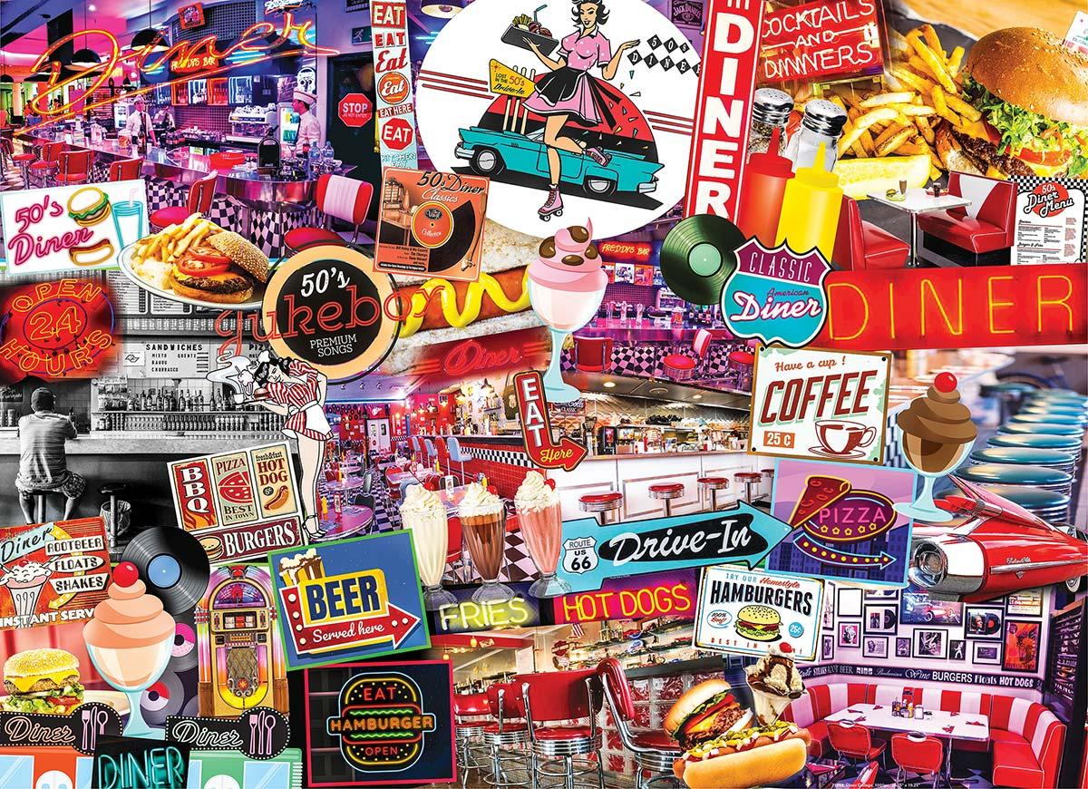 Quick Stop Diner Nostalgic / Retro Jigsaw Puzzle
