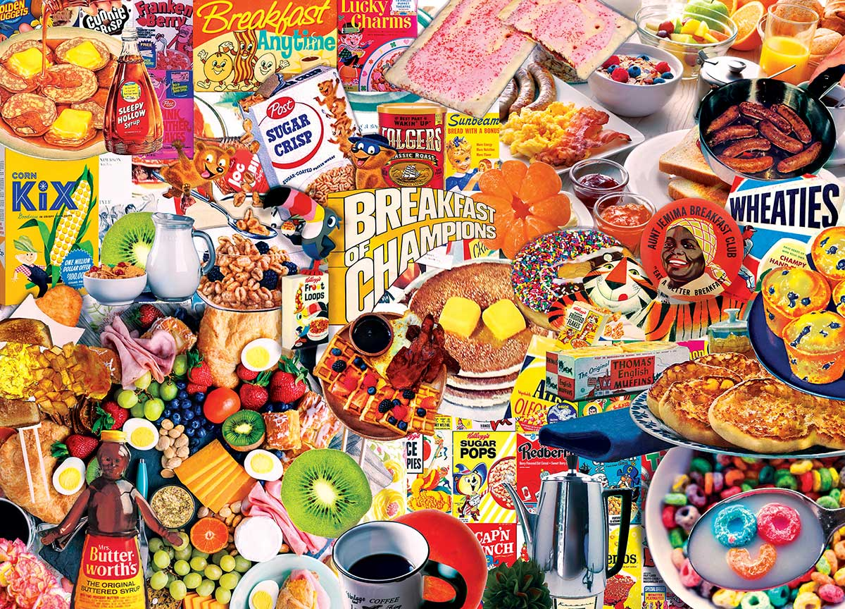 Breakfast of Champions Nostalgic / Retro Jigsaw Puzzle