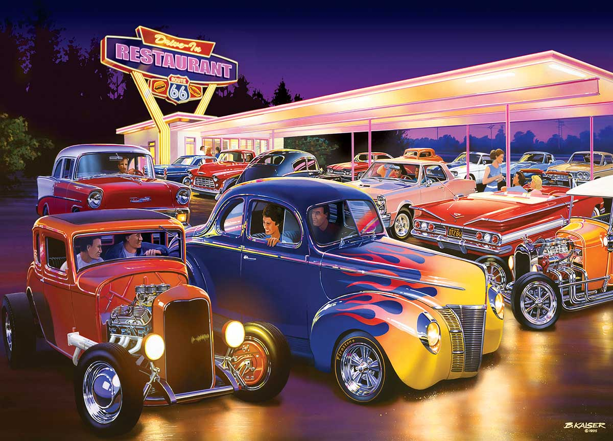 Friday Night Hot Rod's Cars Jigsaw Puzzle