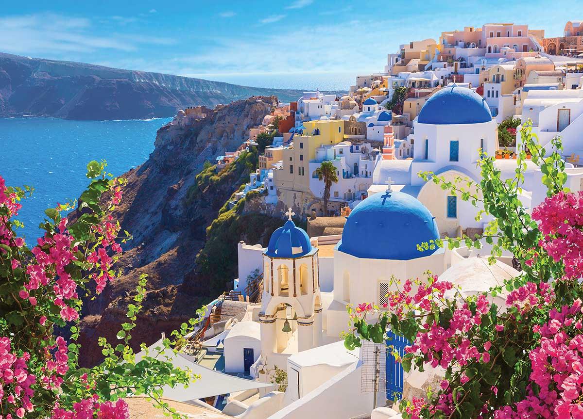 Santorini Spring Photography Jigsaw Puzzle