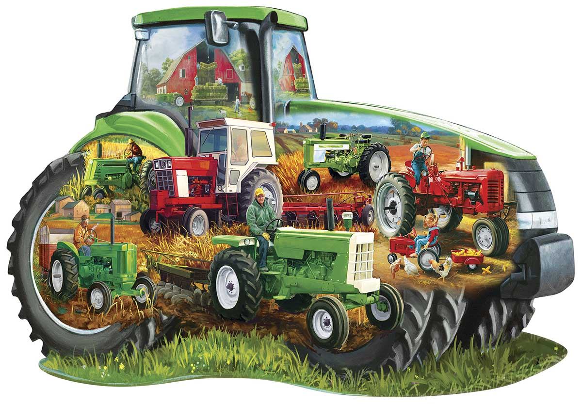 Tractor Vehicles Shaped Puzzle