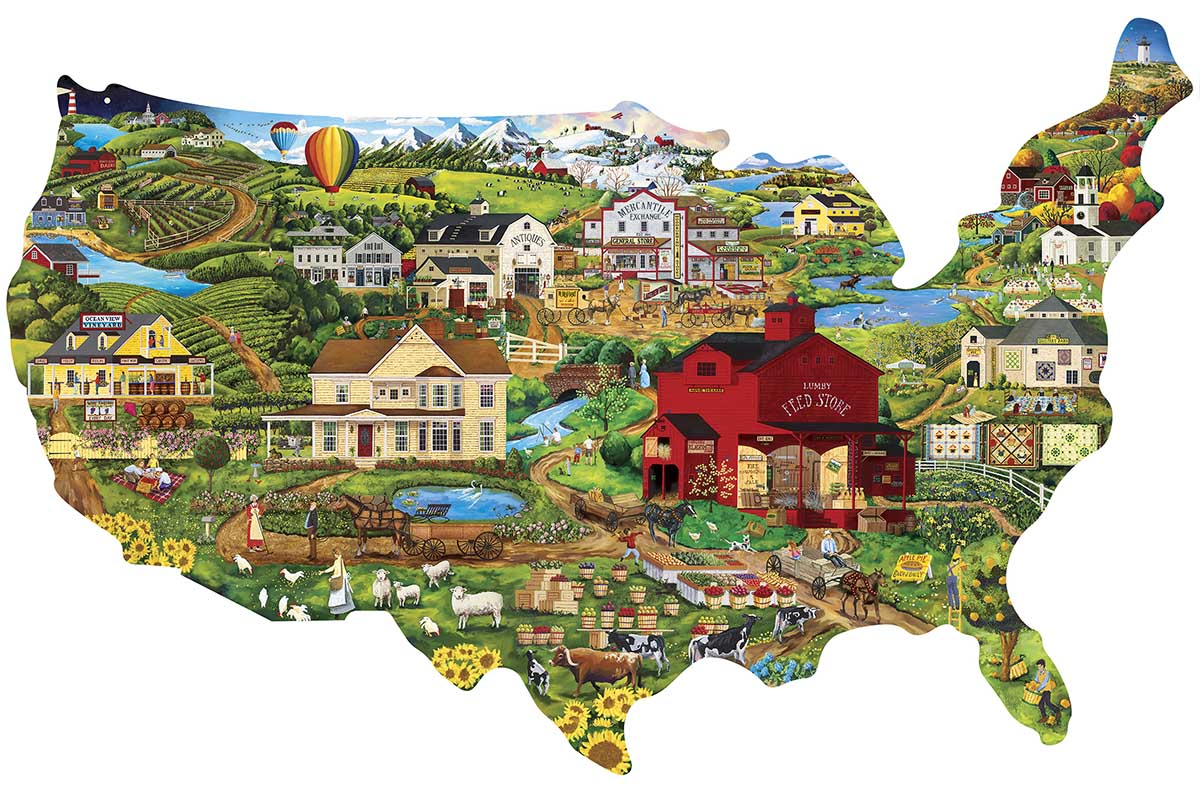 United States United States Shaped Puzzle