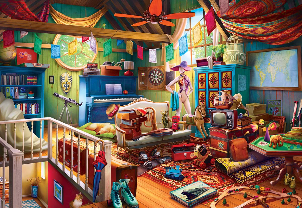 Attic Treasures Everyday Objects Jigsaw Puzzle