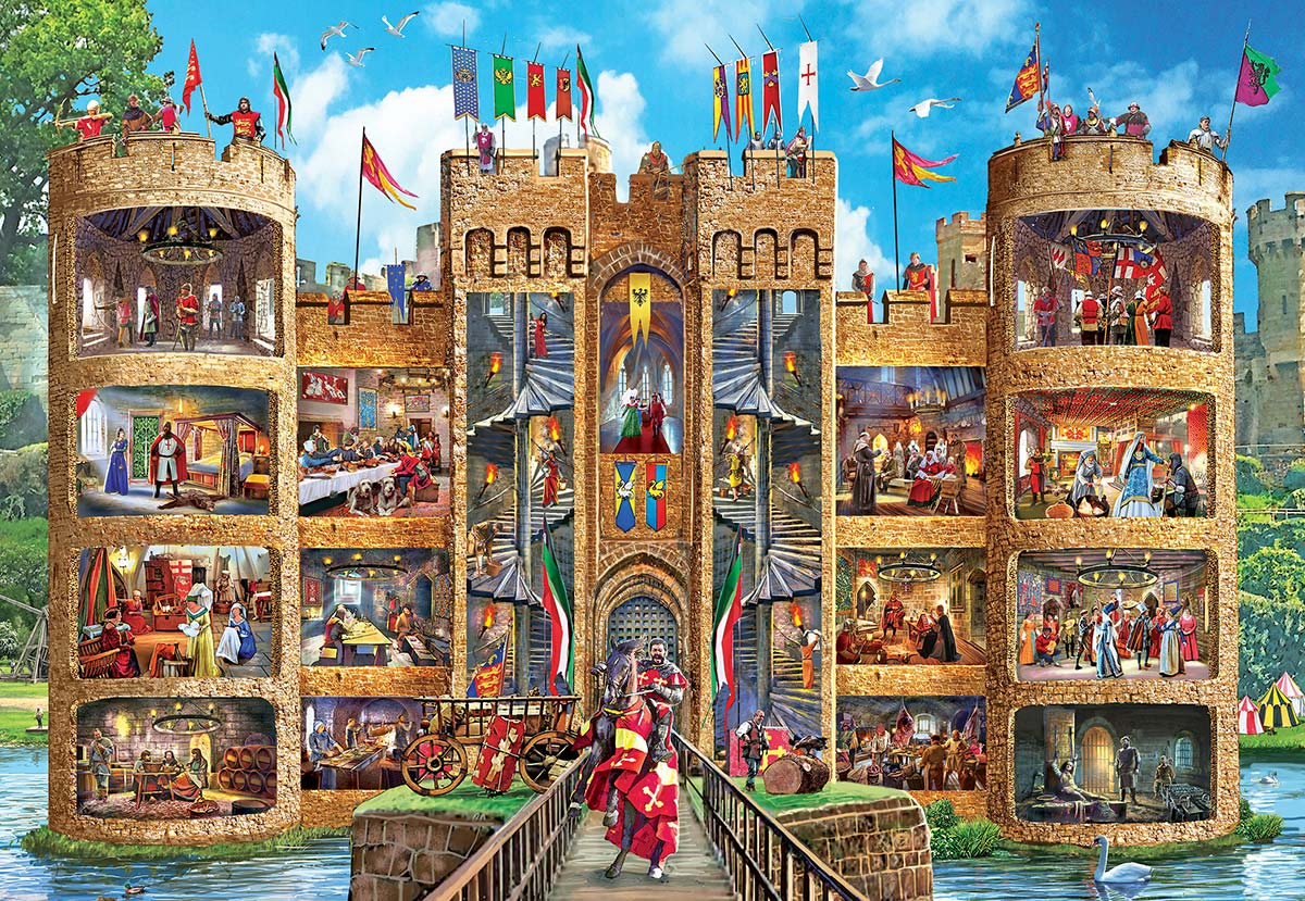 Medieval Castle - Scratch and Dent Castles Jigsaw Puzzle