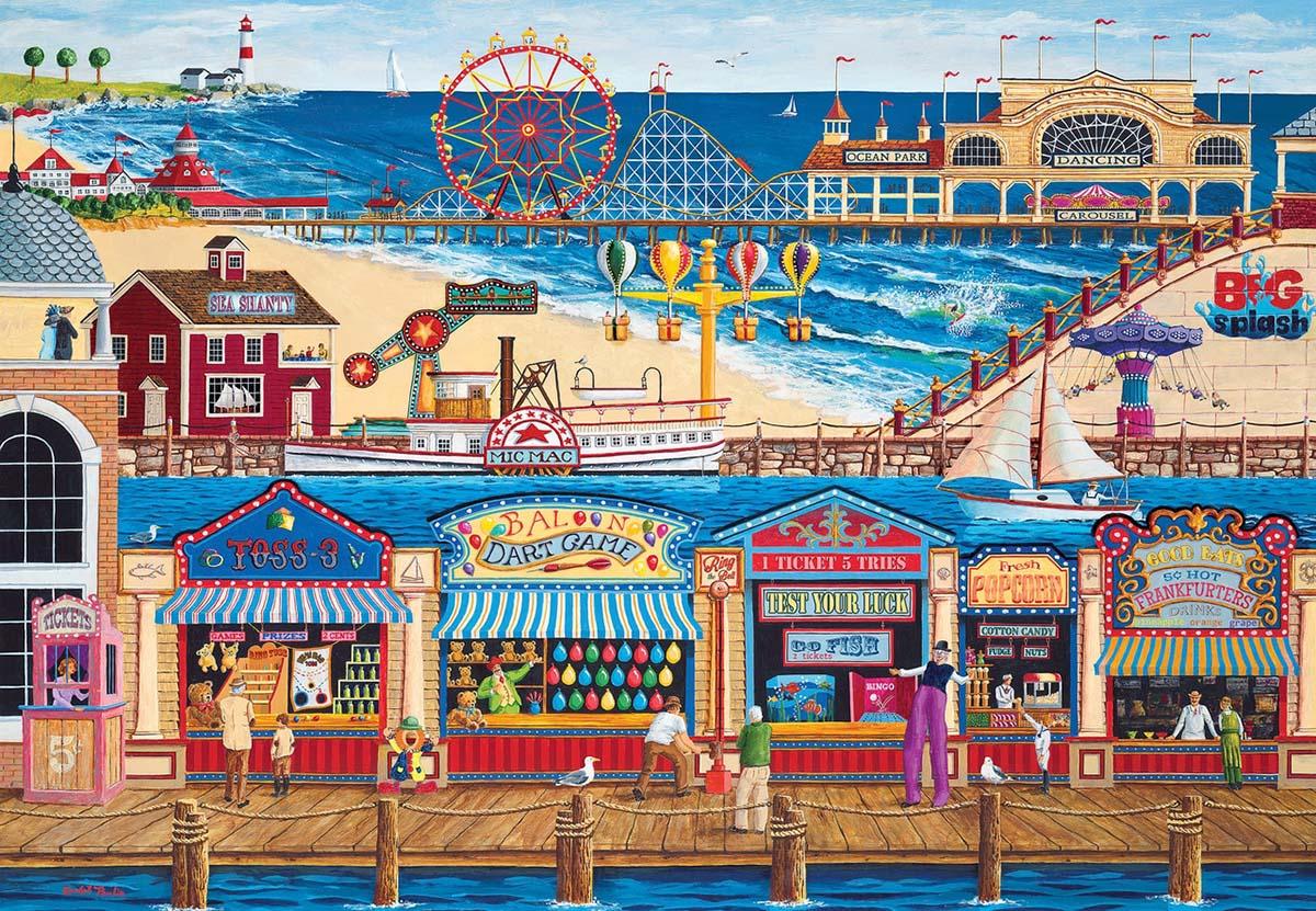 Ocean Park - Scratch and Dent Beach Jigsaw Puzzle