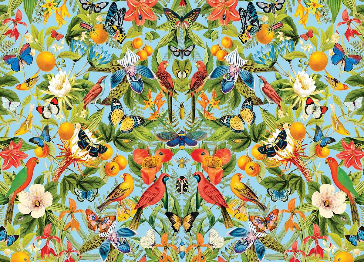Oranges Birds Jigsaw Puzzle