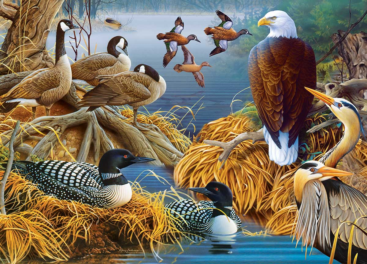 Lake Life Birds Jigsaw Puzzle