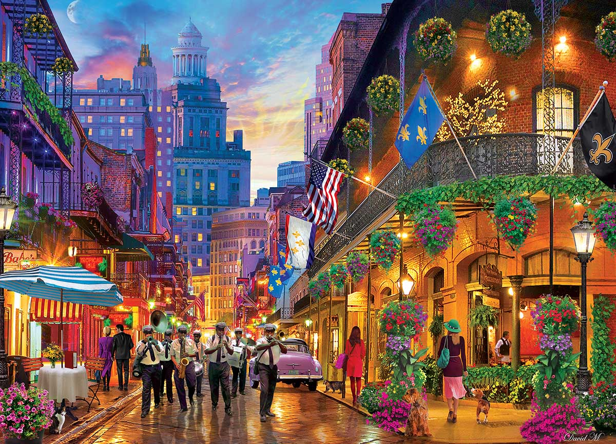 New Orleans Style Flowers Jigsaw Puzzle