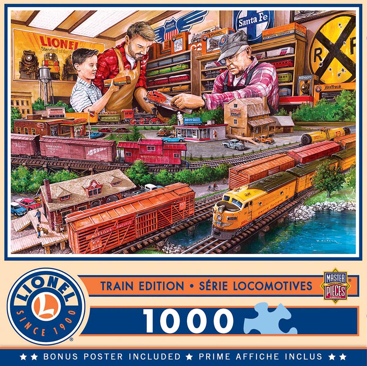 Shopping Spree Trains Jigsaw Puzzle