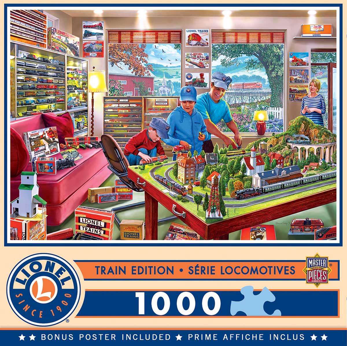 The Boy's Playroom Nostalgic / Retro Jigsaw Puzzle