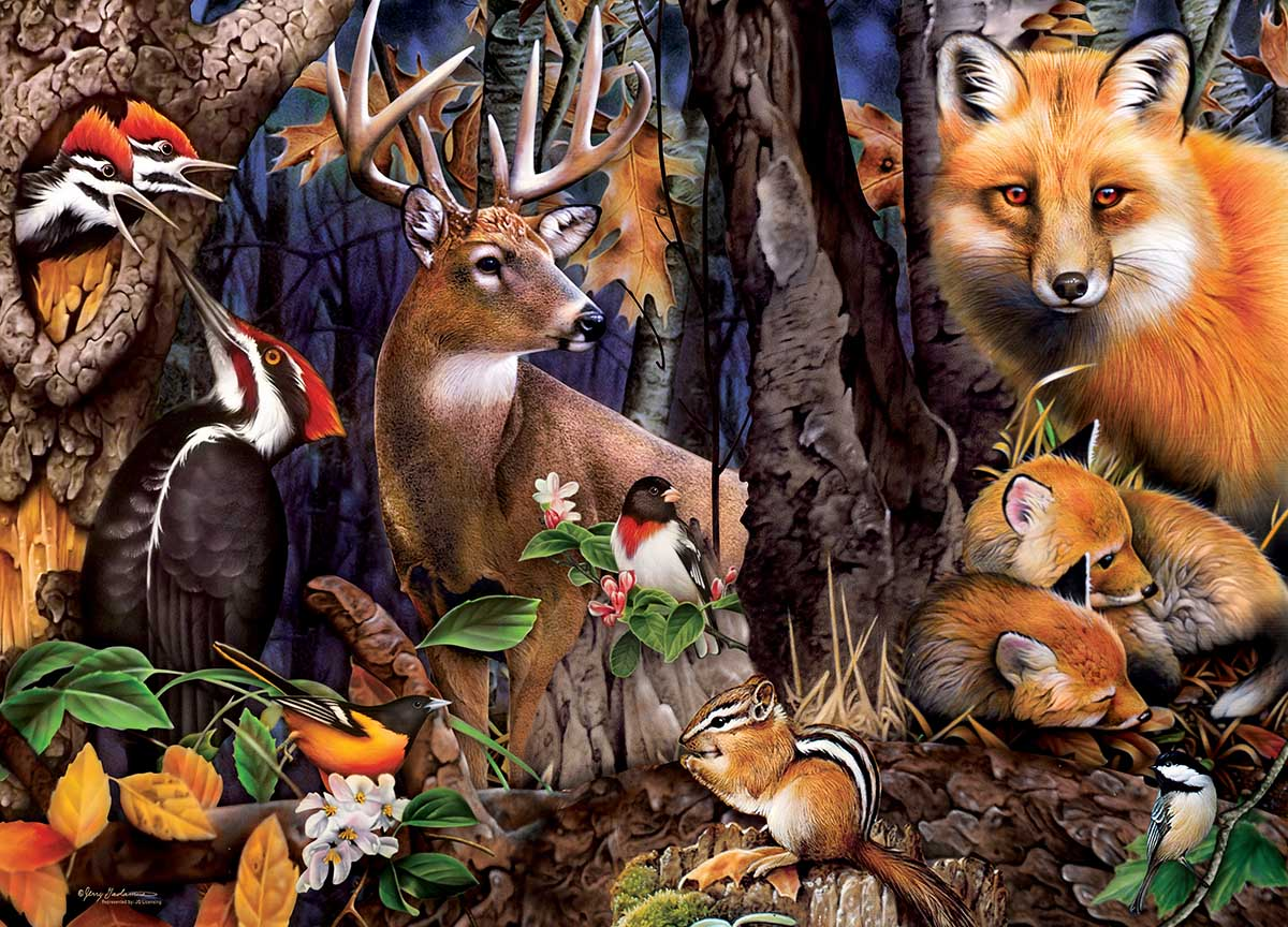 Forest Gathering Animals Jigsaw Puzzle