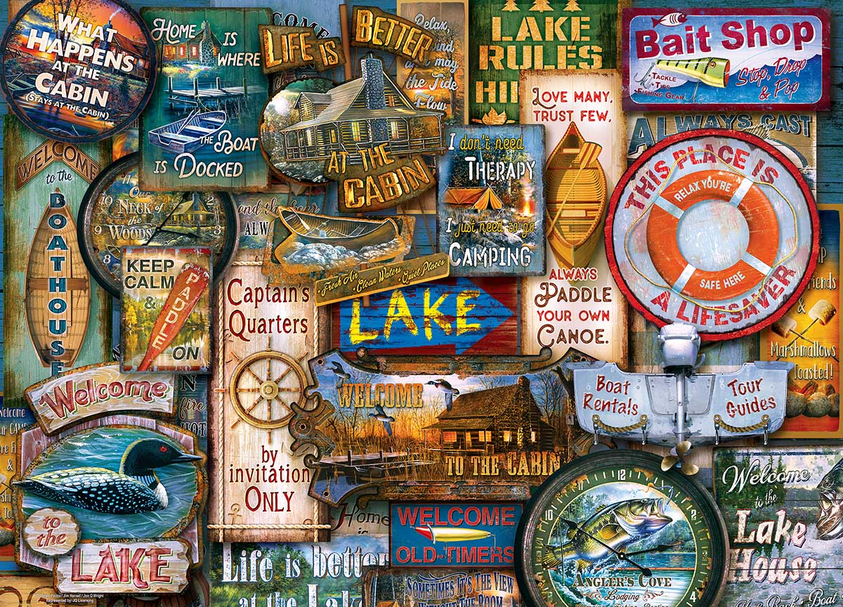 Off to the Lakehouse Outdoors Jigsaw Puzzle