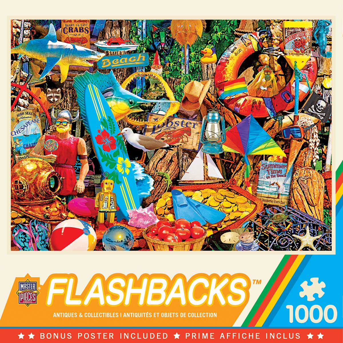 Beach Time Flea Market Beach Jigsaw Puzzle
