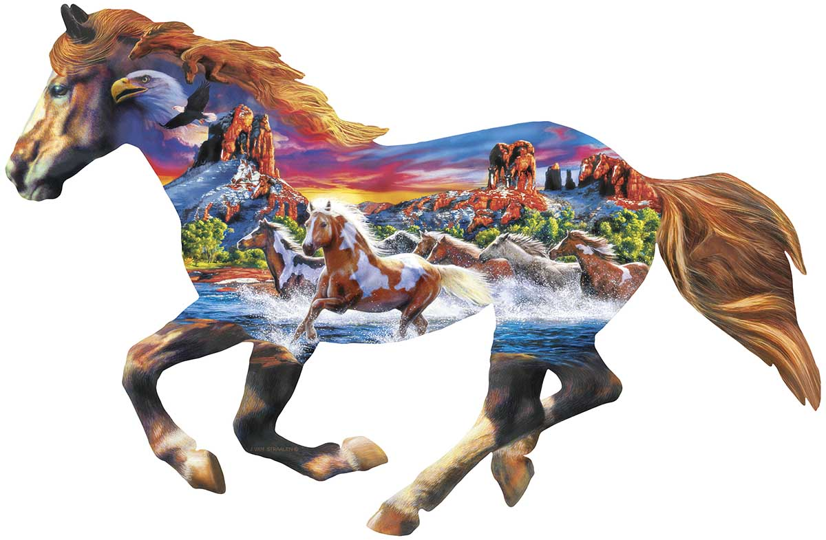 Running Horse Horses Shaped Puzzle