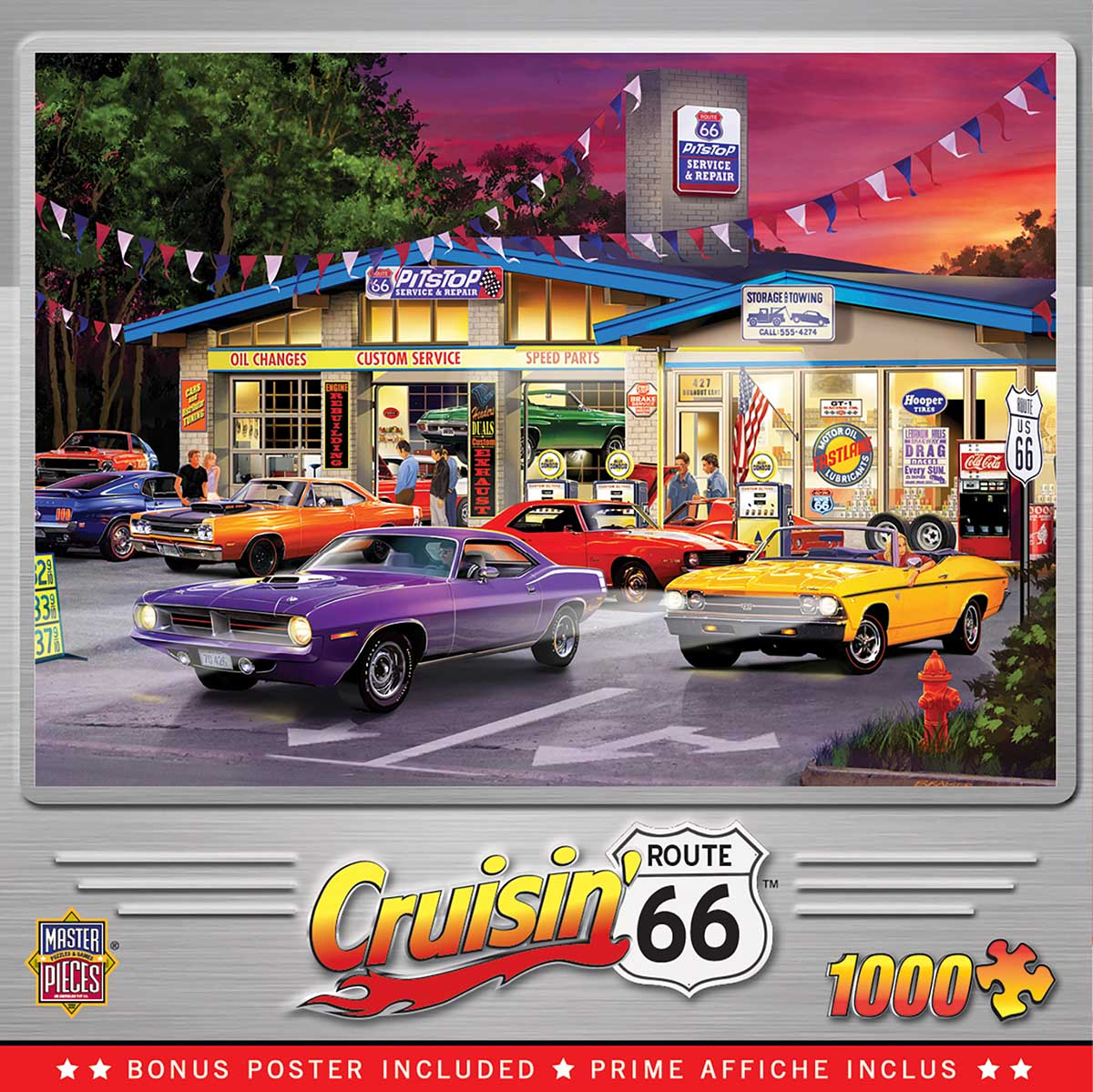 Route 66 Pitstop Cars Jigsaw Puzzle