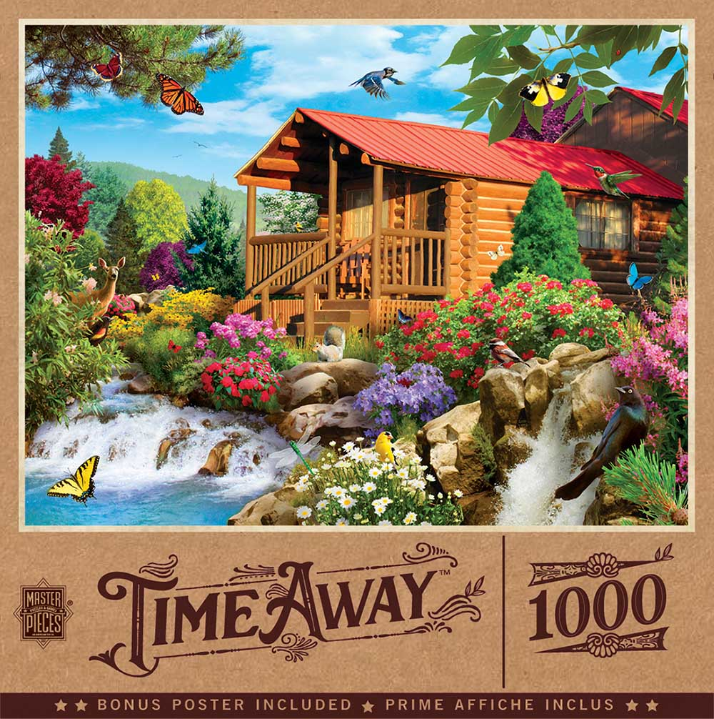 Cascading Cabin - Scratch and Dent Birds Jigsaw Puzzle