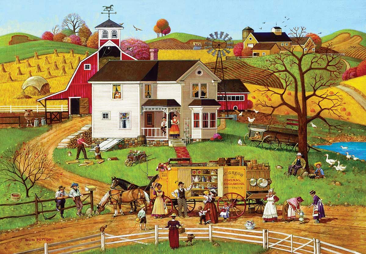 The Travelling Man Americana & Folk Art Jigsaw Puzzle