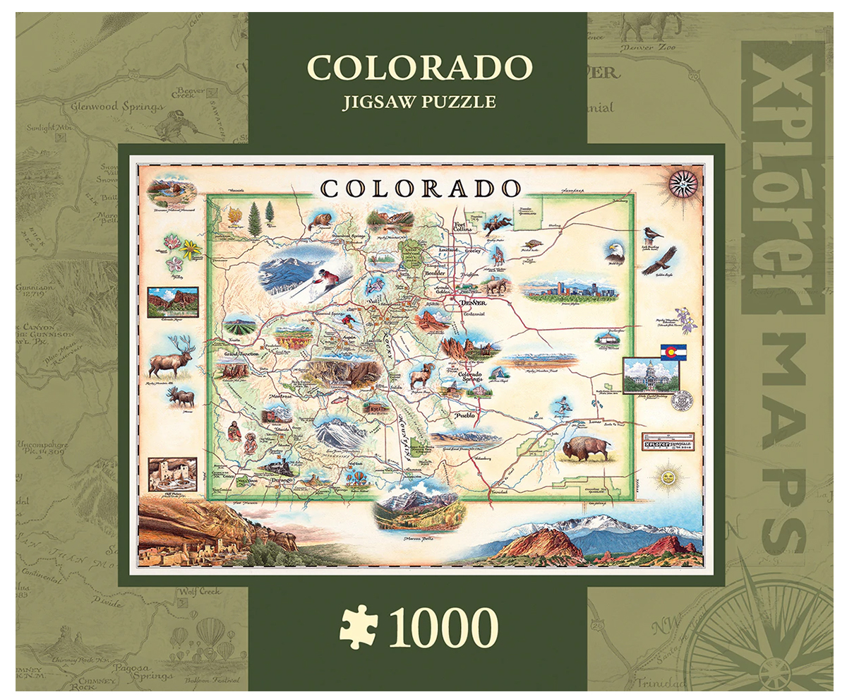 Colorado Maps / Geography Jigsaw Puzzle
