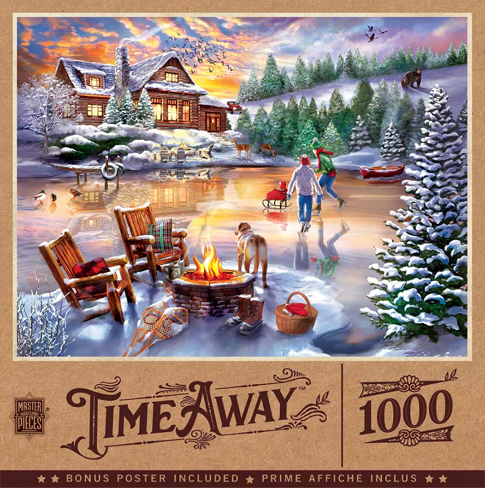 An Evening Skate Winter Jigsaw Puzzle