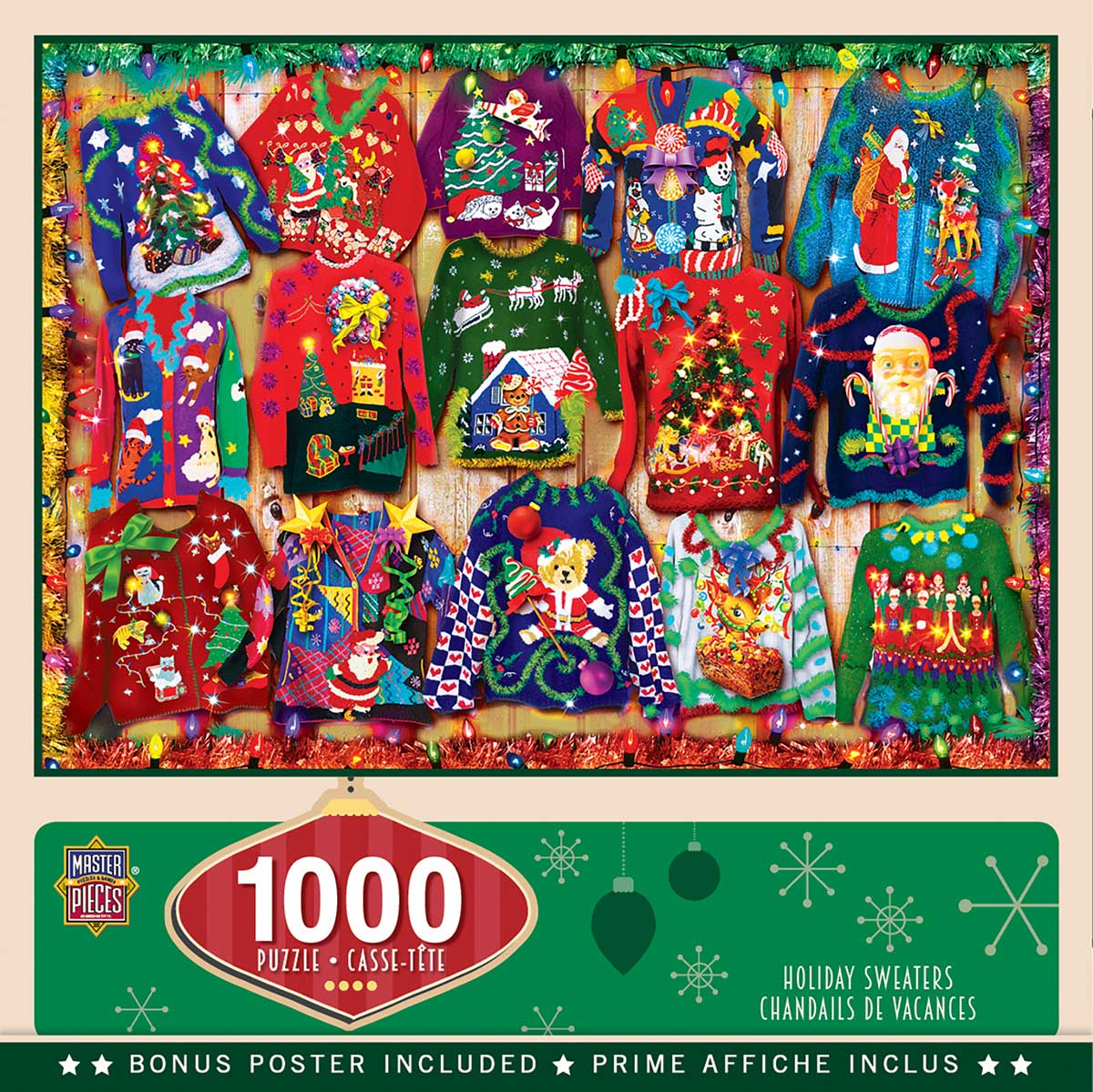 Holiday Sweaters Christmas Jigsaw Puzzle
