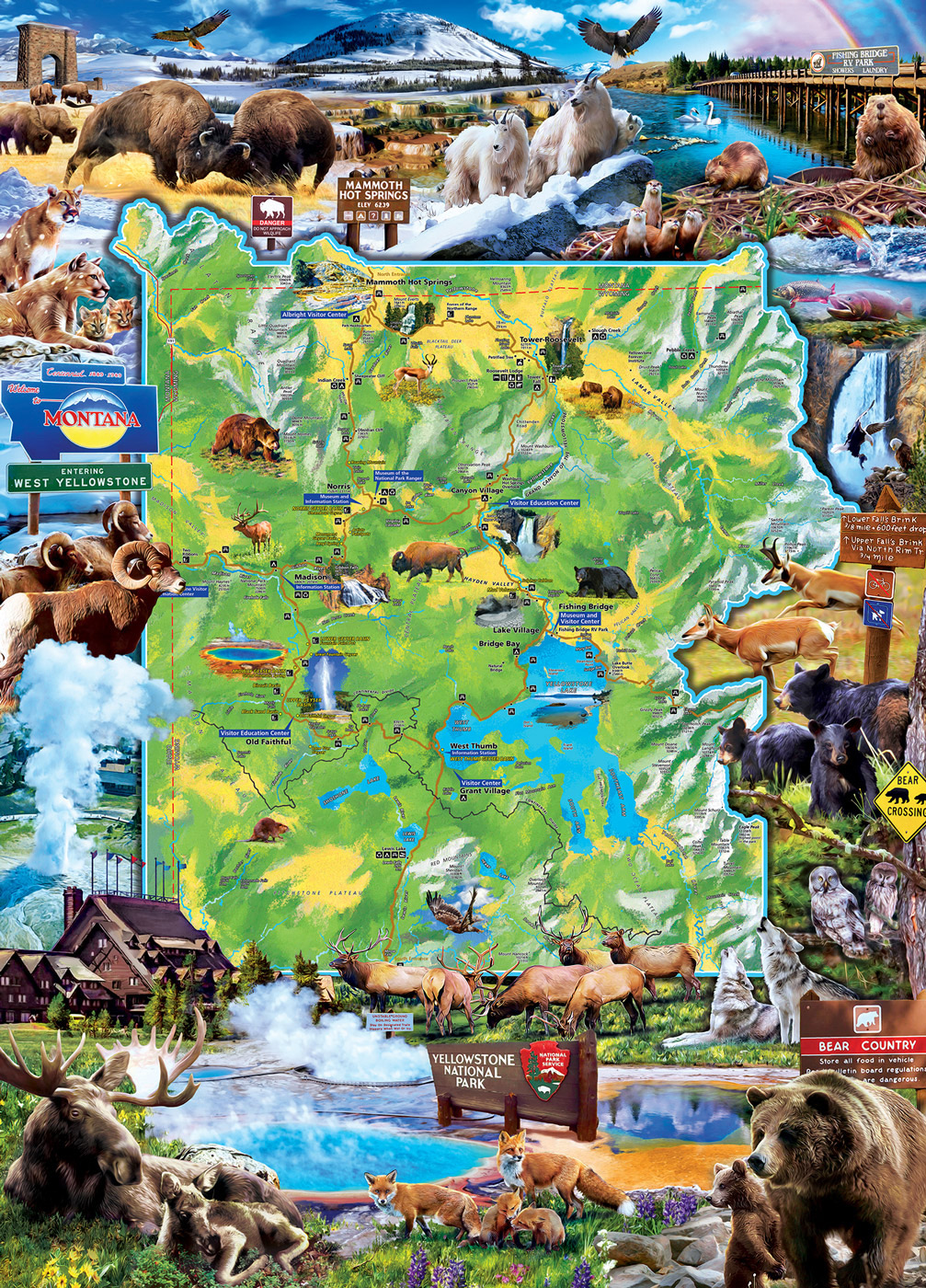 Yellowstone Maps / Geography Jigsaw Puzzle