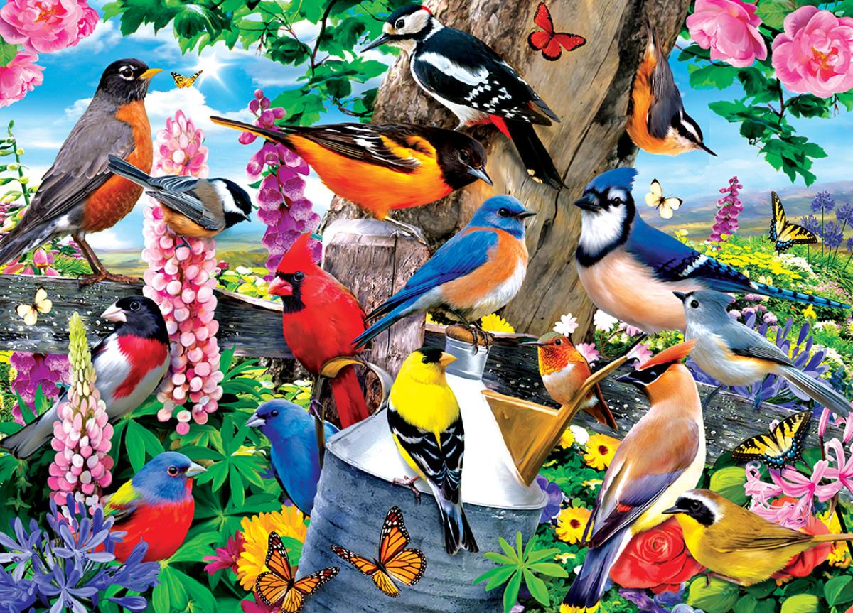 Spring Gathering Birds Jigsaw Puzzle