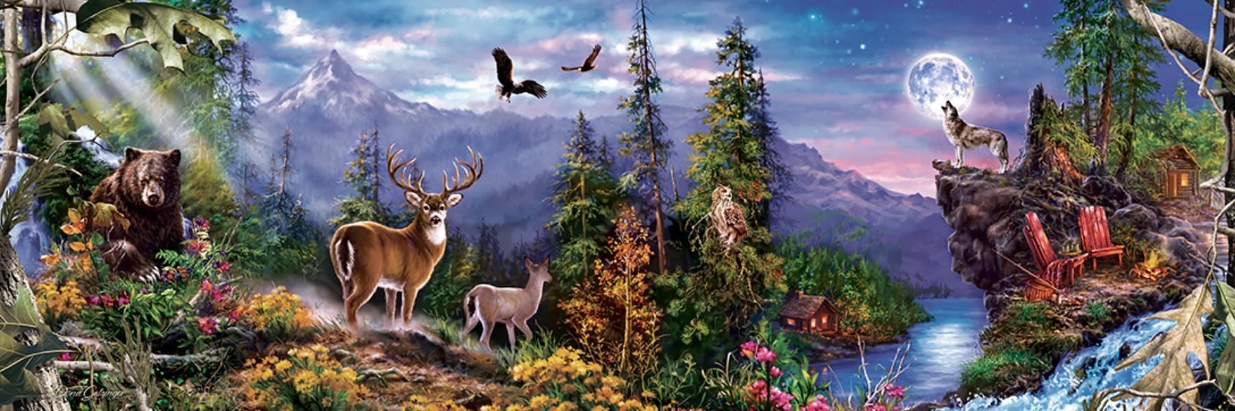 Realtree Panoramic Wildlife Jigsaw Puzzle