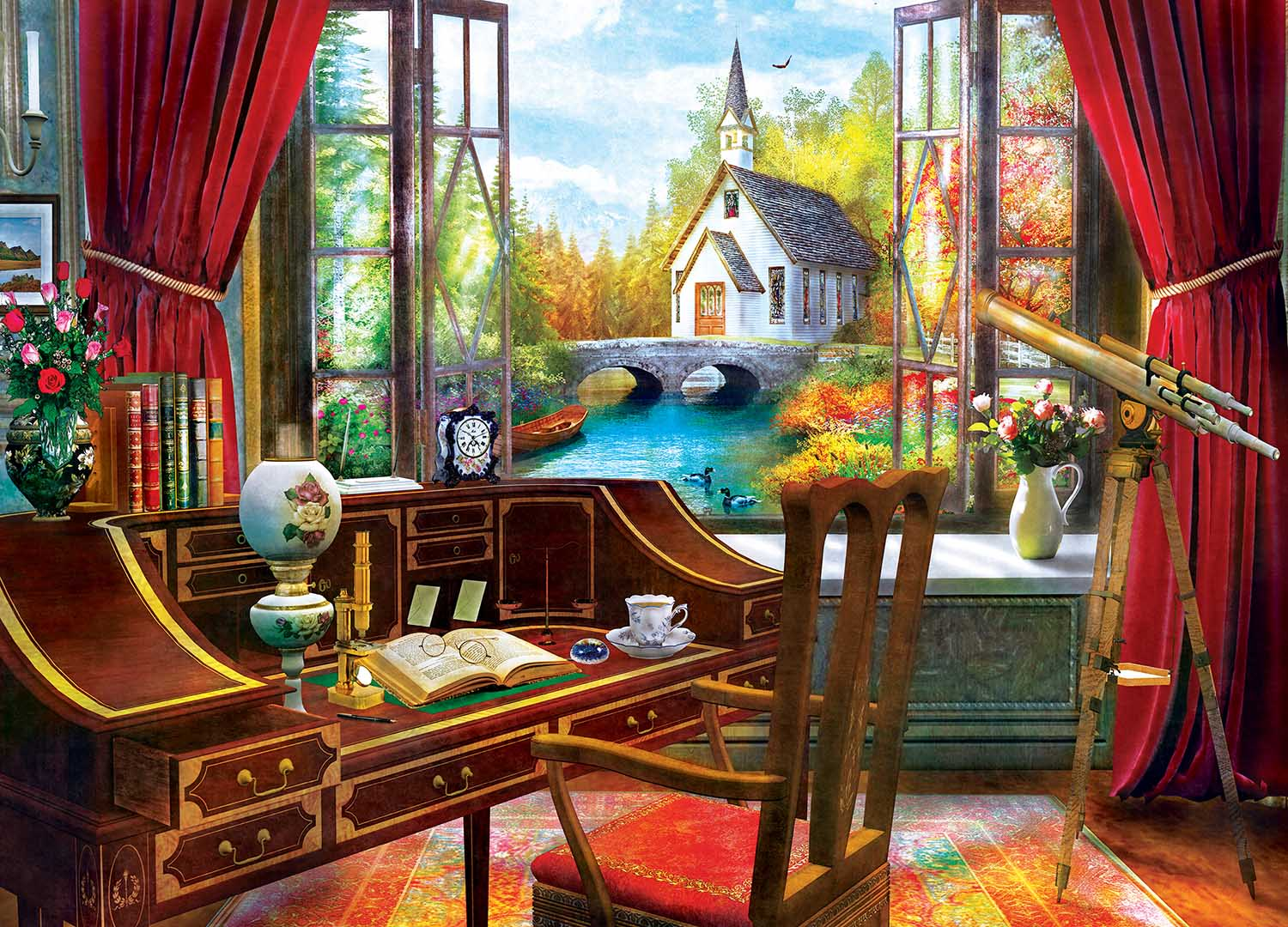 The Study View Churches Jigsaw Puzzle
