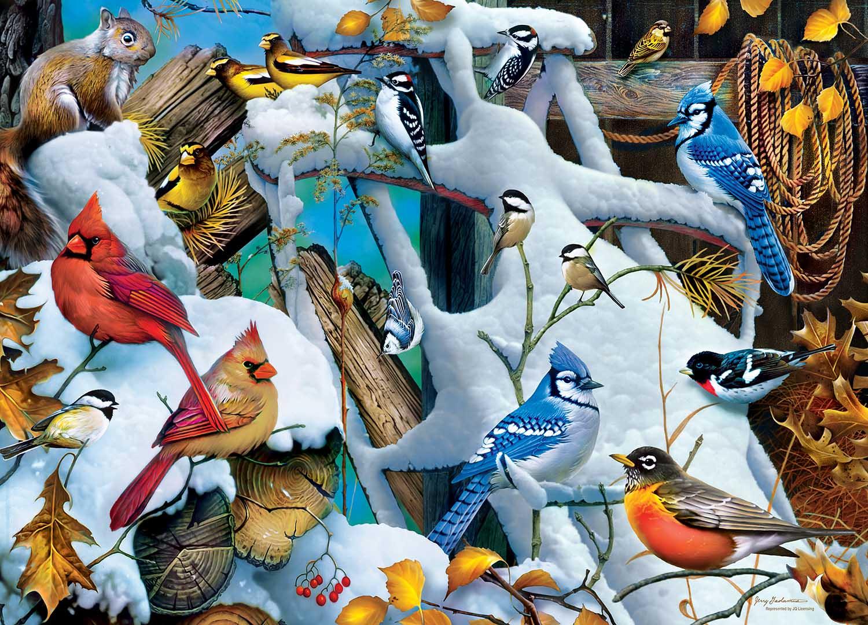 Snow Birds Birds Jigsaw Puzzle
