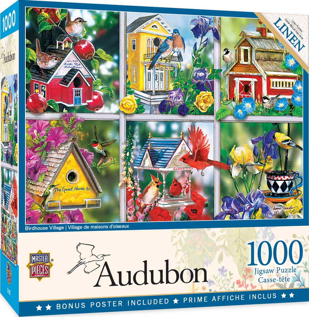 Birdhouse Village Birds Jigsaw Puzzle