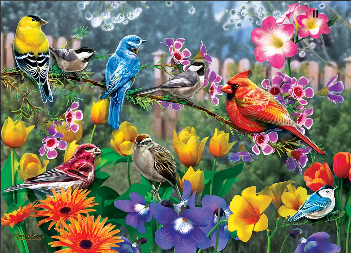 Morning Garden Birds Jigsaw Puzzle