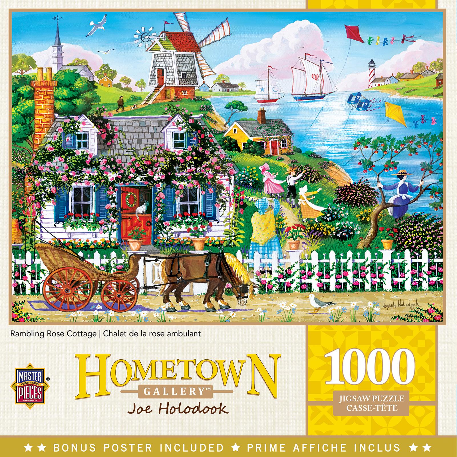 Rambling Rose Cottage Nostalgic / Retro Jigsaw Puzzle