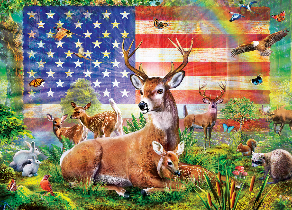 Radiant Country Patriotic Jigsaw Puzzle