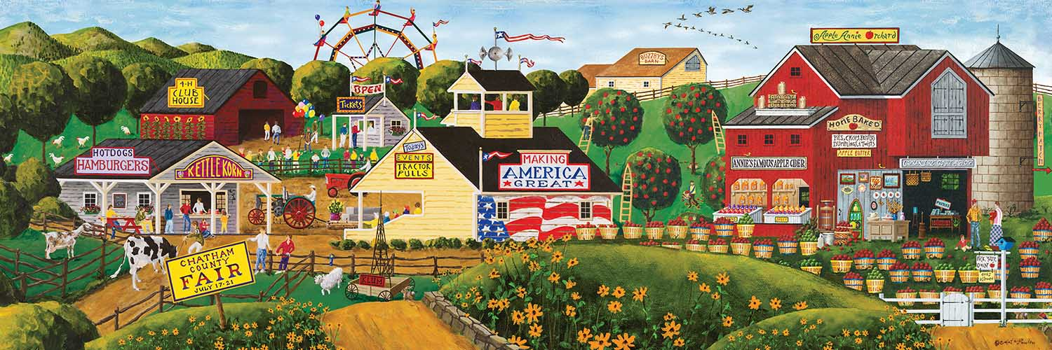 Apple Annie's Carnival Countryside Jigsaw Puzzle