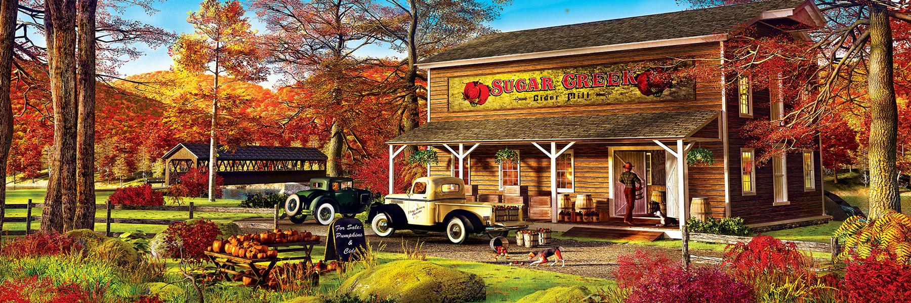 Sugar Creek Cider Mill Countryside Jigsaw Puzzle