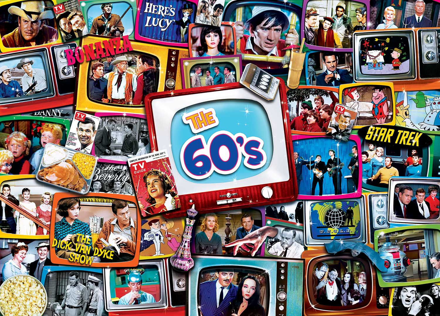 60s Shows Movies / Books / TV Jigsaw Puzzle
