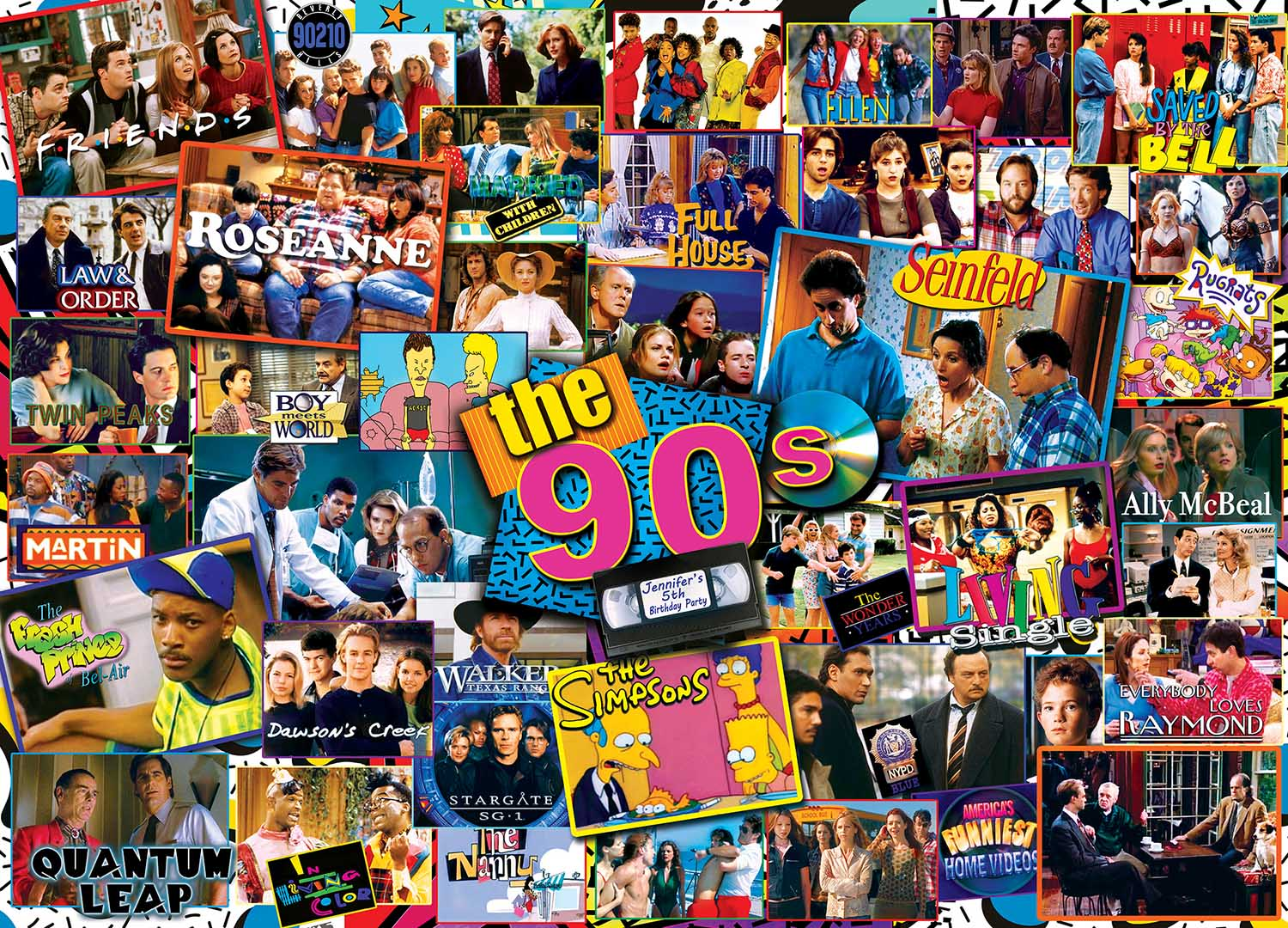 90s Shows Movies / Books / TV Jigsaw Puzzle