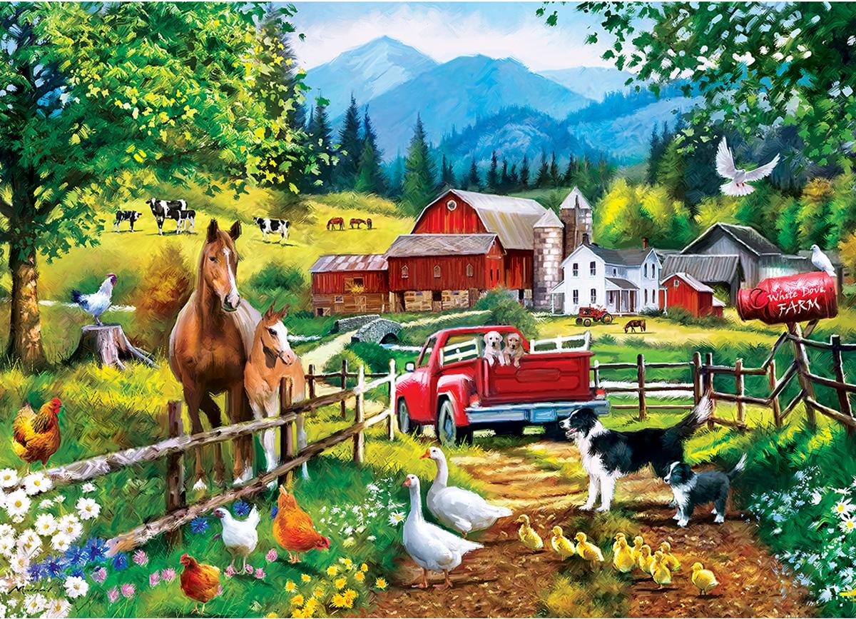White Dove Farm Farm Jigsaw Puzzle
