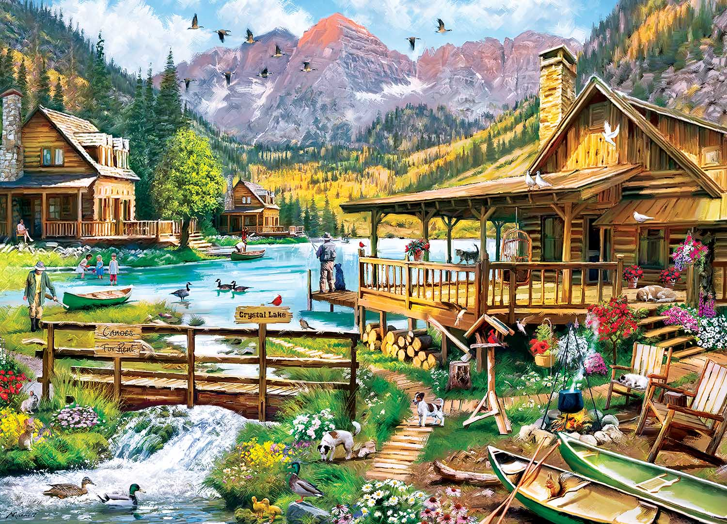 Canoes For Rent Boats Jigsaw Puzzle