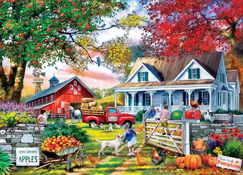 Apple Tree Farm Countryside Jigsaw Puzzle