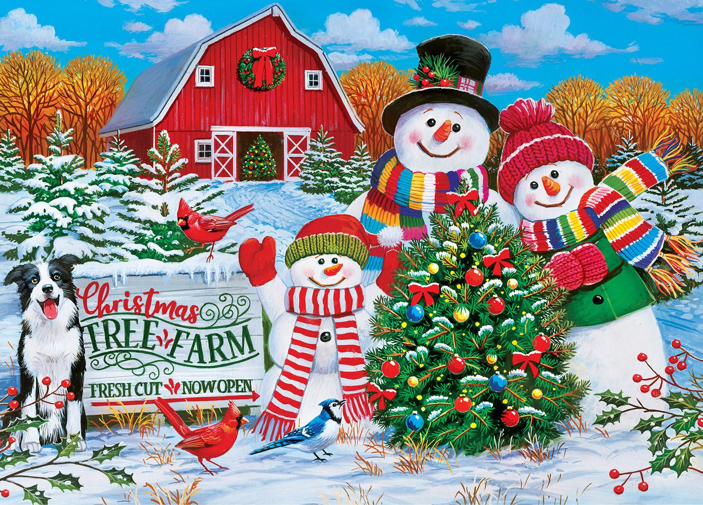 Holiday Tree Farm Farm Jigsaw Puzzle