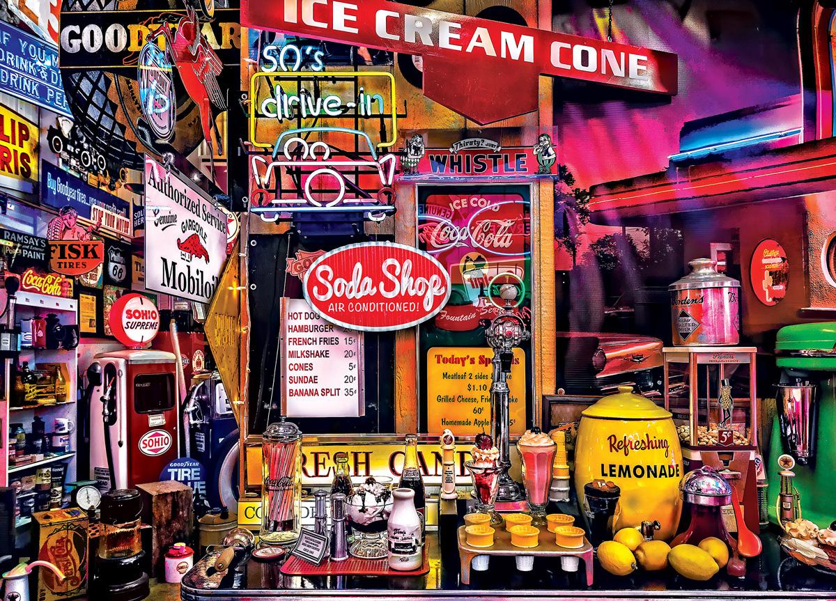Parade Day Street Scene Jigsaw Puzzle