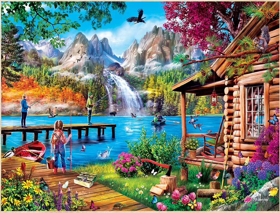 Fishing with Pappy Fishing Jigsaw Puzzle