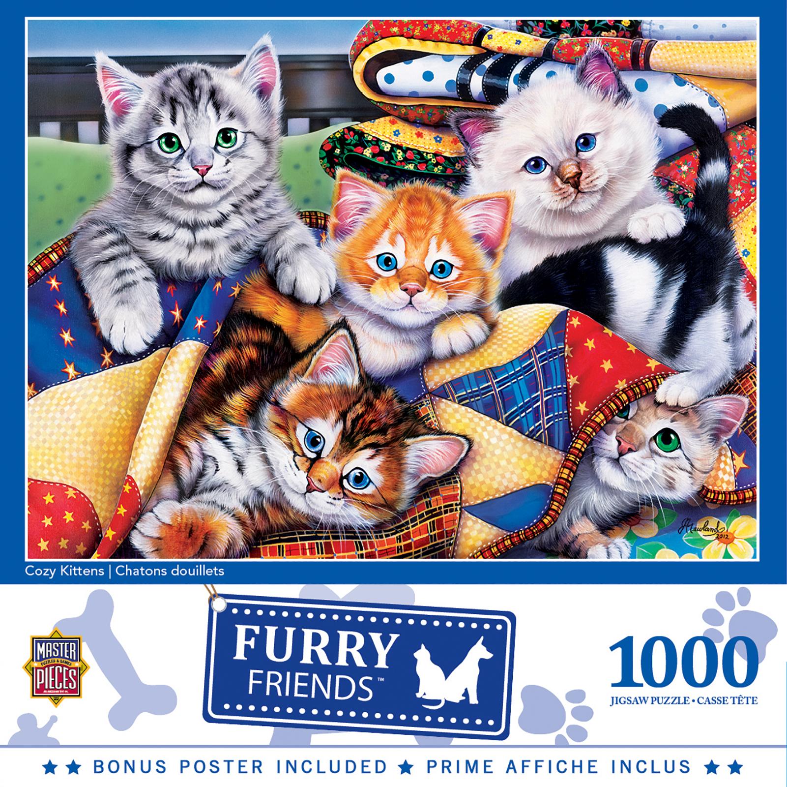 Cozy Kittens Animals Jigsaw Puzzle