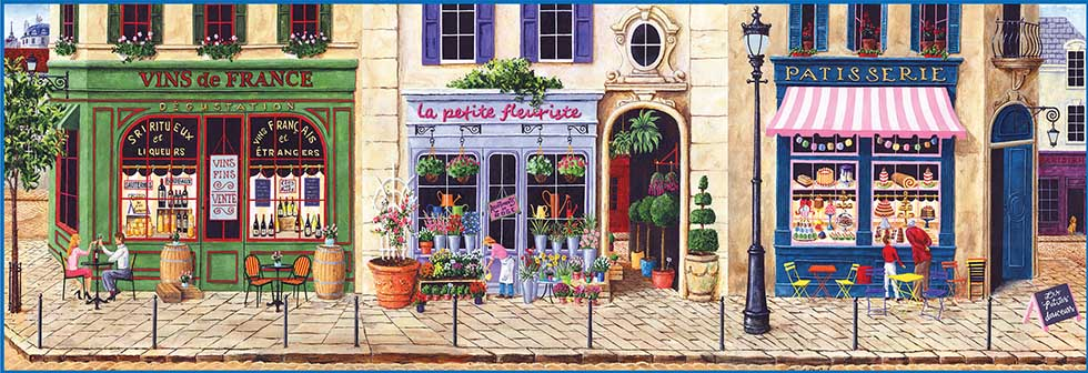 Afternoon in Paris Street Scene Jigsaw Puzzle
