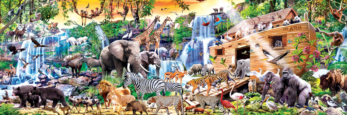 Noah's Ark - Panoramic Animals Jigsaw Puzzle