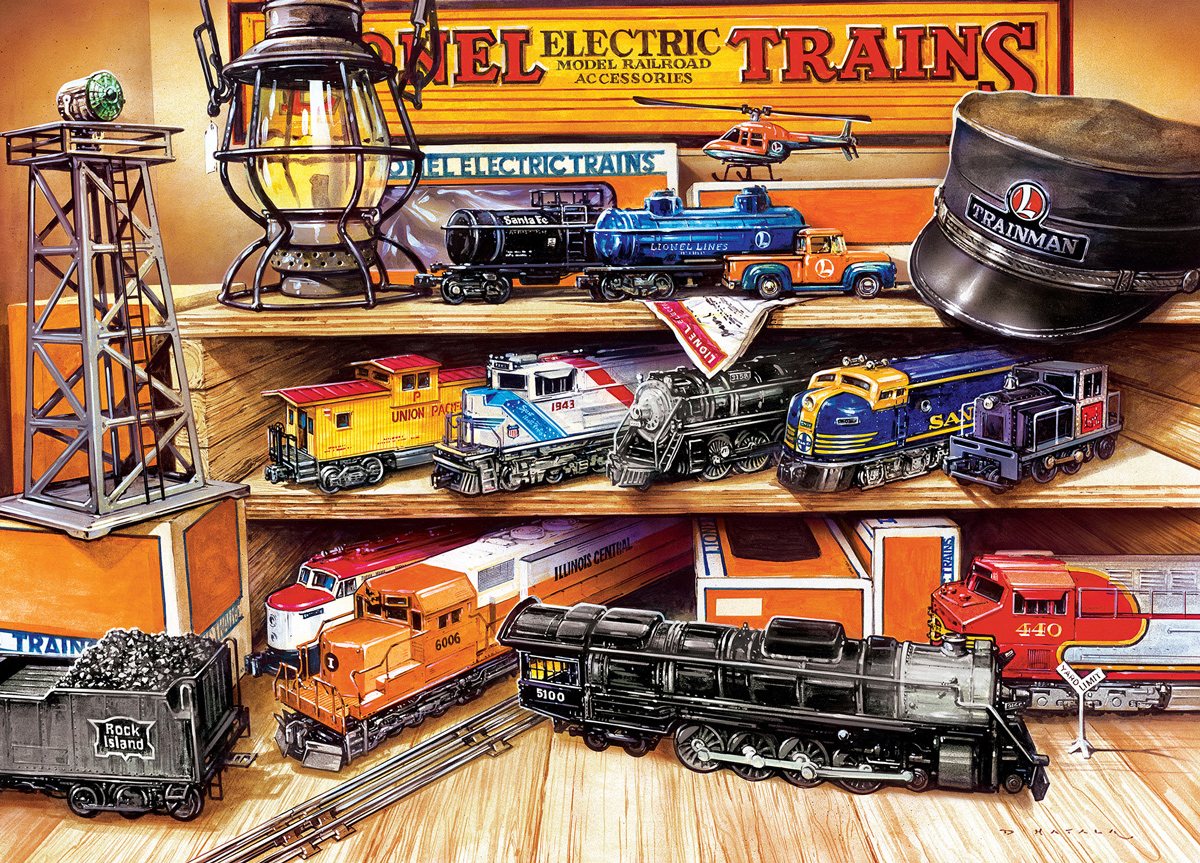 Collector's Treasures Trains Jigsaw Puzzle