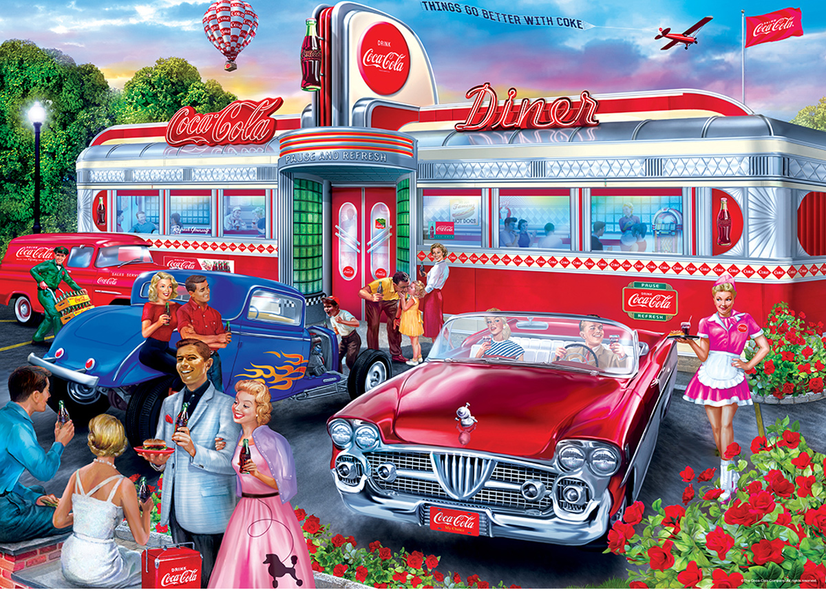 Diner Food and Drink Jigsaw Puzzle