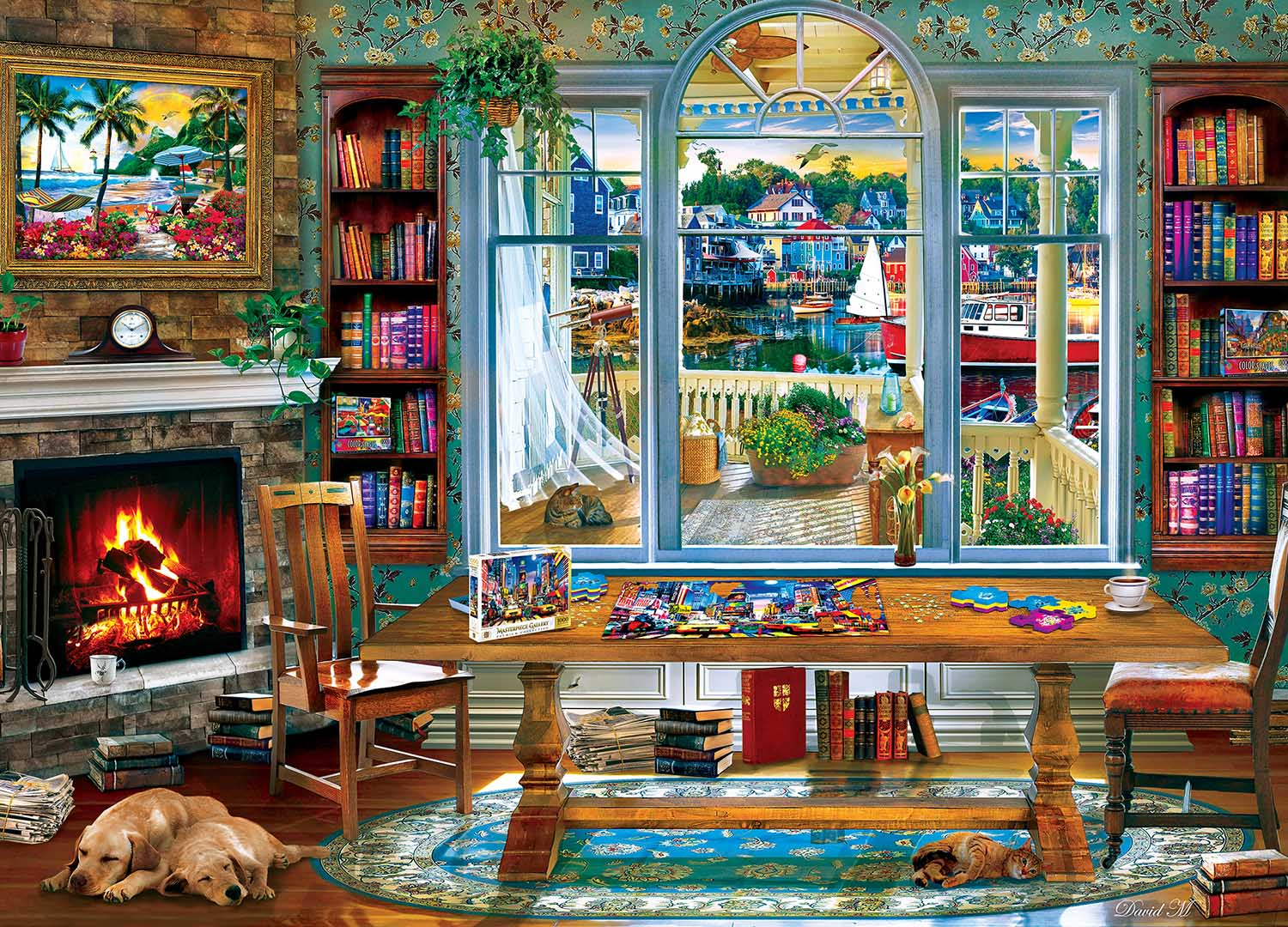 A Puzzling Afternoon Domestic Scene Jigsaw Puzzle