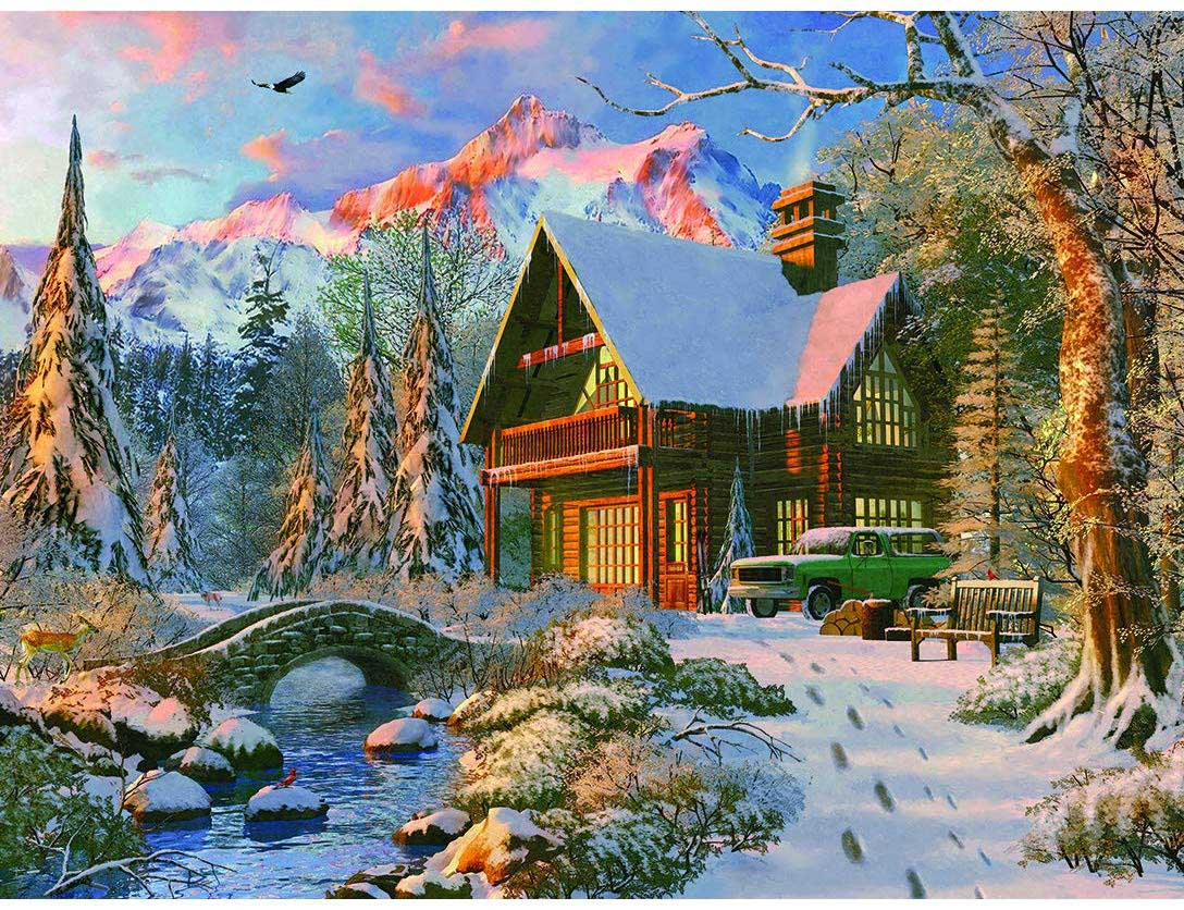 Winter Haven Mountains Jigsaw Puzzle